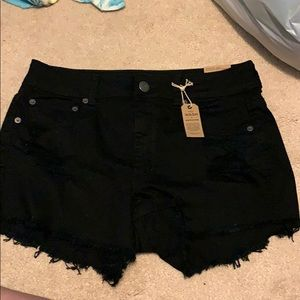 Black American Eagle Ripped shorts never worn